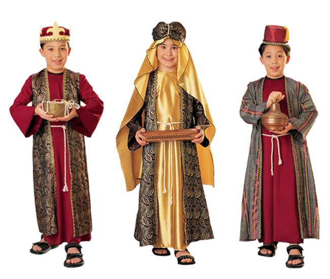 Wise men costumes christmas nativity