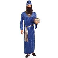 adult wise men costume blue