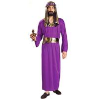 adult wise men costume purple