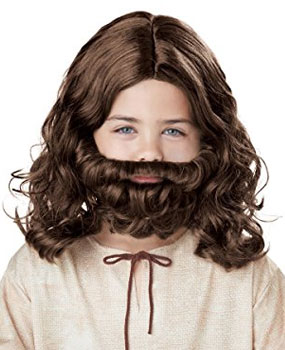 child wise men beard and wig