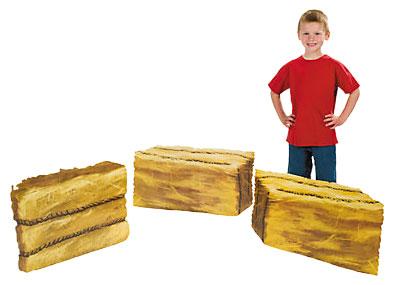cardboard hay bales