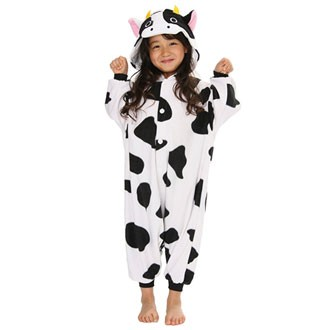cow costume fleece